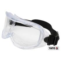 Окуляри захисні прозорі YATO з регульованим еластичним пояском