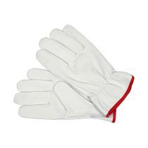 Рукавиці робочі білі з червоною крайкою YATO бавовна + шкіра розмір 10