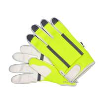 Рукавиці робочі біло-жовті з світловідбиваючою нейлоновою тканиною YATO : екошкіра, розмір 10