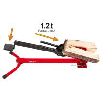 Дровокол ножний YATO 430 мм 60-180 мм сила натиску- 1.2 т