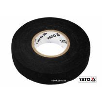 Стрічка ізоляційна на тканинній основі чорна YATO 15 м x 19 x 0.3 мм -40°С - +105°С