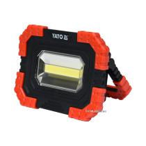 Прожектор діодний, переносний YATO, 10 Вт, 680 лм, 3 режими, живл.- 4х АА, 160х 120х 45 мм, магніт