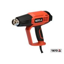 Фен технічний YATO 1.6 кВт 50-650°C 250-500л/хв 2 режими + 5 насадок