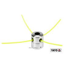 Головка для кріплення жилки до газонокосарок YATO : Ø=2.2-3.0 мм, l=200-430 мм, з алюмінію