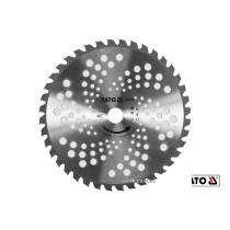 Ніж дисковий до газонокосарок YT-85001/YT-85003 YATO Ø255 x 25.4 мм 40 зубів