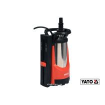 Насос для брудної води мережевий YATO: 750 Вт, 11000 л/год, максимальна висота- 8.5 м, максимальна глибина- 7 м.