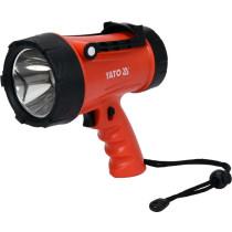 Ліхтар світлодіодний з ручкою акумул. YATO Li-Ion 3.7 В, 4400 mАГод, 15Вт, 600/1200 Lm, зарядний USB
