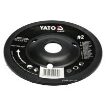 Диск-фреза шліфувальний YATO по дереву, фарбі, шпаклівці, алюмінію 125 х 22.2 мм шорсткість №2