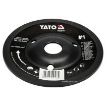 Диск-фреза шліфувальний YATO по дереву, фарбі, шпаклівці, алюмінію 125 х 22.2 мм шорсткість №1