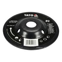 Диск-фреза шліфувальний YATO по дереву, ПВХ, гіпсу 125 х 22.2 мм шорсткість №2