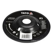Диск-фреза шліфувальний YATO по дереву, ПВХ, гіпсу 125 х 22.2 мм шорсткість №3