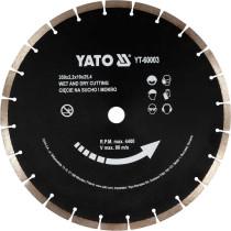 Диск алмазний сегментний по бетону YATO : Ø= 350x 25,4 мм. t= 3,4 мм, до YT-84820