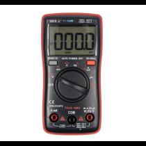 Мультиметр TRUE RMS електричних параметрів YATO з LCD-цифровим діапазоном 9999