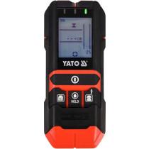 Детектор цифровий YATO прихованих матеріалів та електропровідників, вологості дерева