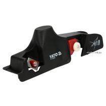 Рубанок для знімання фаски г/к плит YATO : t= 9,5-15 мм, 2 леза, L= 240х 60 мм