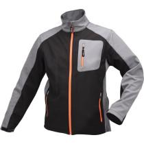 Куртка робоча SOFTSHELL YATO розмір XL, чорно-сіра, 3 кишені, 96% поліестер і 4% спандекс