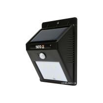 Світильник вуличний, сонячний, акумулятор.- 3,7 В, 900мАг з датчиком руху- 3м YATO; світл. P= 120 lm