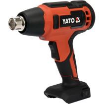 Фен технічний акумуляторний YATO : 18В Li-Ion, 550°C, 100 л/хв, 2 режими (без акумулят.)