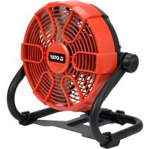 Вентилятор з гібридним живленням YATO, акум.-18 В,лопаті Ø=230 мм,оберт.- 360°(БЕЗ АКУМУЛЯТОРА)