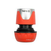 """З'єднувач з функцією """"стоп"""" YATO для водяних шлангів Ø=3/4"""" ABS"""