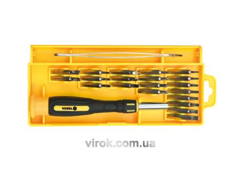 Отвертка-держатель для точных работ VOREL с насадками 22 шт