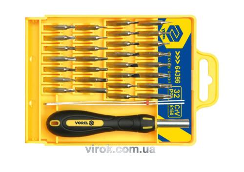 Отвертка-держатель для точных работ VOREL с насадками 32 шт