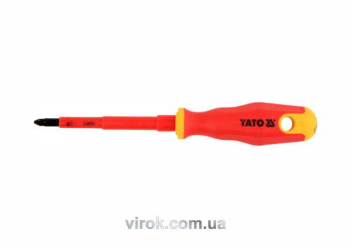 Отвертка диэлектрическая крестовая YATO PZ2 x 100 мм VDE до 1000 В