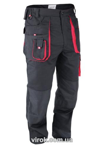 Штаны рабочие YATO красно-черные, размер XXL