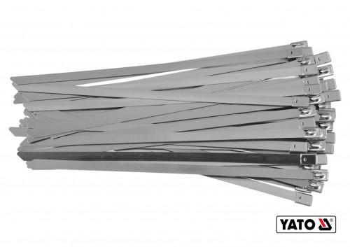 Хомут зажимной с нержавеющей стали YATO 8 х 200 мм 50 шт