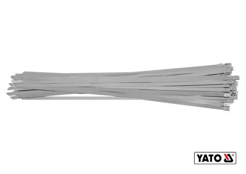 Хомут зажимной с нержавеющей стали YATO 8 х 500 мм 50 шт