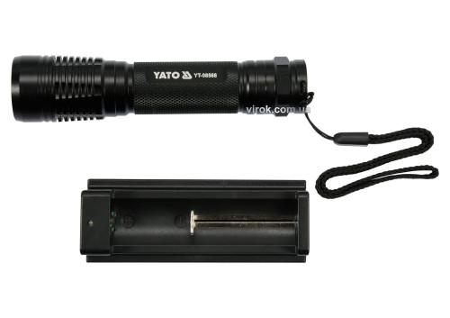 Фонарь светодиодный XPG3 CREE аккумуляторный YATO Li-Ion 3.7 В 2.2 Aч 6 Вт 500 лм Ø28 x 120 мм