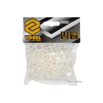Крестики для плитки многоразовые U-образные VOREL 1.5 мм 100 шт