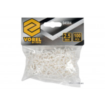 Хрестики дистанційні для плитки багаторазові VOREL тип U: товщина - 2,5 мм, уп. 100 шт.