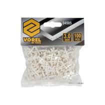 Хрестики дистанційні для плитки багаторазові VOREL тип U: товщина - 3 мм, уп. 100 шт.