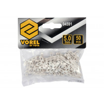 Хрестики дистанційні для плитки і клінкера VOREL тип Т: товщина - 5 мм, уп. 50 шт.