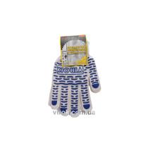 Перчатки трикотажные белые с ПВХ (10 класс, 95% - хлопок, 5% -полиэстер), размер 10