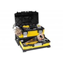 """Ящик для інструменту  STANLEY професійний 2-секційний металопластмасовий 20""""/ 54.5х28х33.5 см"""
