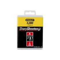 "Скоба для степлера STANLEY ""Light Duty"" тип ""А"", h= 6 мм, 5000 шт."