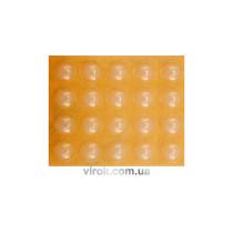 Прокладка силіконова самоклеюча під меблі VOREL, 10мм, набір 20шт [32/576]