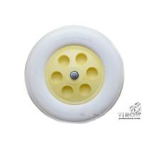 Колесо полиуретановое для тачки TM VIROK 4.80/4-8, 2 подшипники + ось
