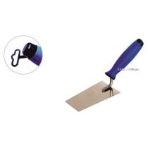 Мастерок трапециевидный с нержавейки PROFI ТМ VIROK 130 мм двухкомпонентная ручка