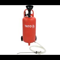 Оливо-змазувальний агрегат пневматичний на колесах YATO з ємністю 20 л, тиск- 0,5 MPa, шланг- 2,1 м