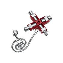 """Ключ багатофунційний до розподільних шаф/щитів NWS """"SubMaster"""" з ланцюгом і карабіном"""