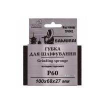 Губка шлифовальная четырехсторонняя SAMURAY ТМ VIROK Р60 100 х 68 х 27 мм