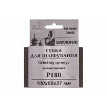 Губка шлифовальная четырехсторонняя SAMURAY ТМ VIROK Р180 100 х 68 х 27 мм