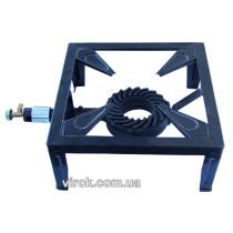 Плита газовая одноконфорочная переносная с краном на четырех ножках VIROK давление газа 2/37 мбар 544 г/ч 7.5 кВт