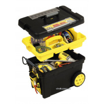 Ящик для инструментов на колесах пластиковый STANLEY 61.3 x 37.5 x 41.9 см с органайзером