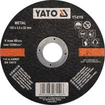 Диск відрізний по металу YATO, Ø= 125 х 22 мм, h= 3.2 мм [5/25/200]