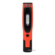Светильник аккумуляторный YATO Li-Ion 3.7 В 2.2 Ач 3.5/3 Вт 280 лм + магнит + зарядное устройство