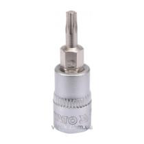 """Головка торцевая с отверточной насадкой TORX YATO 1/4"""" Т15 х 37 мм"""